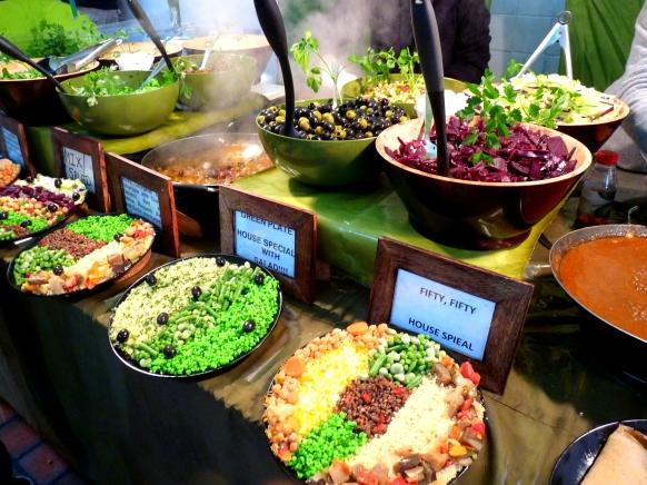 ethipian vegan stall